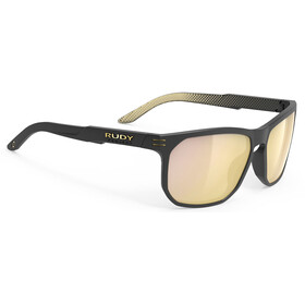 Rudy Project Soundrise Brille black matte/ice gold pattern/multilaser gold